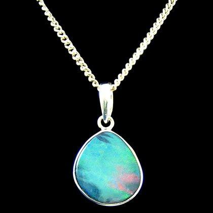 Opal blog on crystal healing jewellery gemstones 19mm opal teardrop pendant aloadofball Gallery