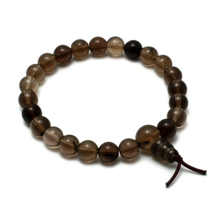 Smoky Quartz Power Bead Bracelet