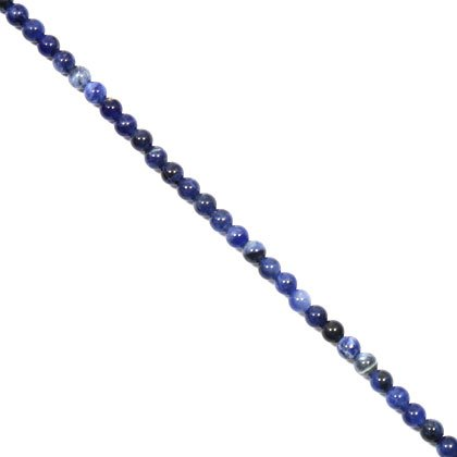 Sodalite Crystal Beads - 5mm Round