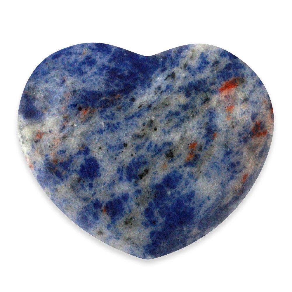 sodalite crystal heart 45mm