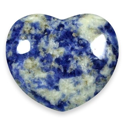 Sodalite Crystal Heart ~45mm