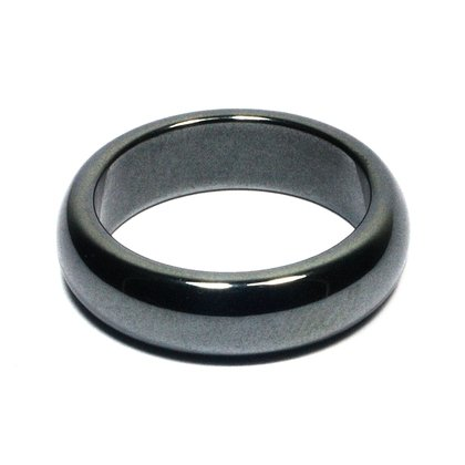 Solid Hematite Ring (Thick)