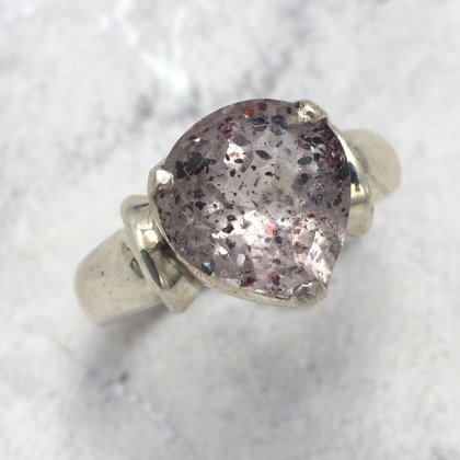 Super Seven & Silver Ring ~ Ring Size 8.5 US, R UK