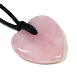Taurus Birthstone Necklace - Rose Quartz Heart