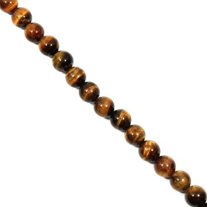 Tiger Eye Crystal Beads - 10mm Round Bead
