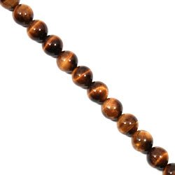 Tiger Eye Crystal Beads - 12mm Round Bead