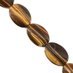 Tiger Eye Crystal Beads - 35mm Twist Oval