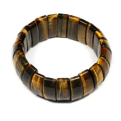 Tiger Eye Nugget Bracelet - Curved Rectangles
