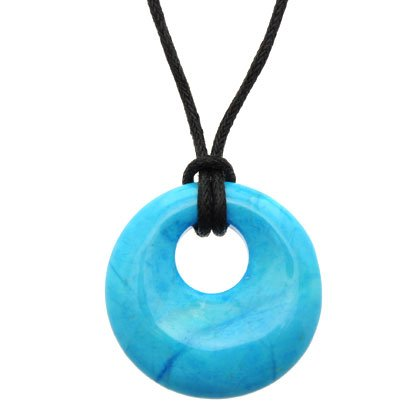 Turquoise Howlite Donut Pendant (Gift Boxed)