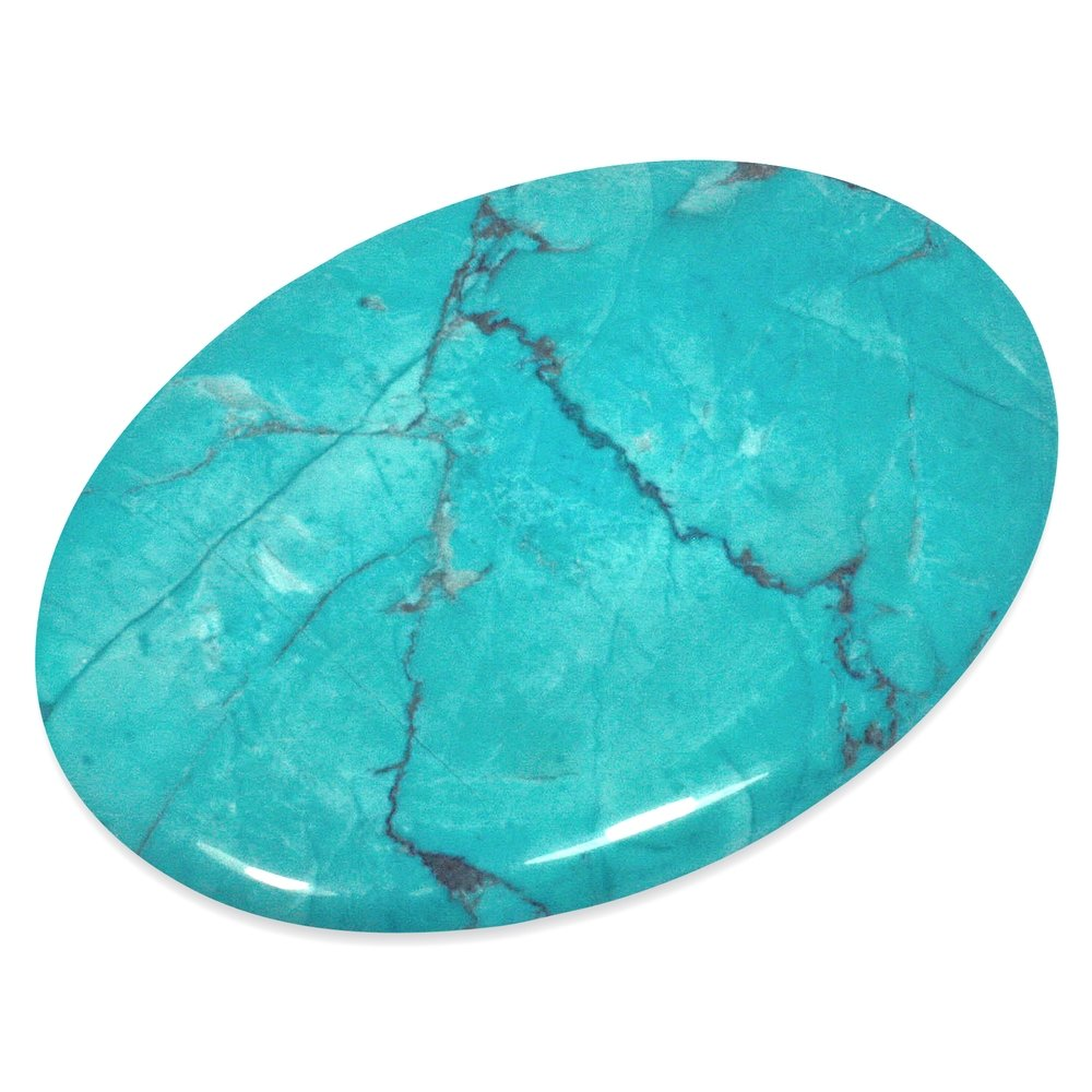Turquoise Howlite Palm Stone