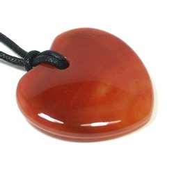 Virgo Birthstone Necklace - Carnelian Heart