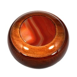 Wooden Jewel Box ~ Carnelian, Small